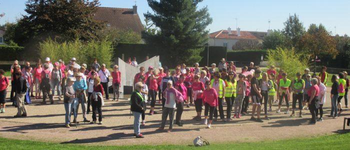 Octobre à rose à Châtenoy, un grand rassemblement de marcheur