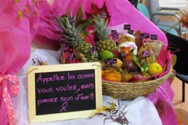 Panier de fruit pour la lutte contre le cancer du sein