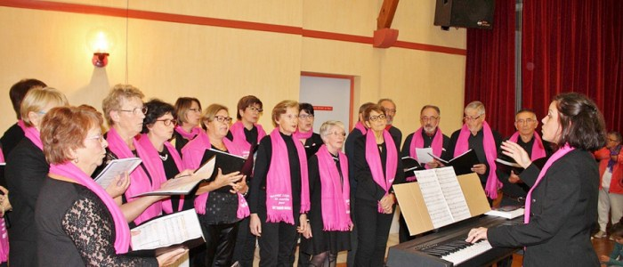 Fragnes la loyère chorale Acroch'Notes Octobre Rose