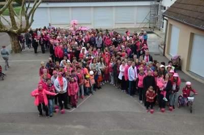 La ville de Sassenay uni pour Octobre rose