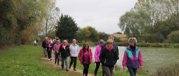 Marche contre le cancer du sein à Virey le Grand