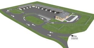 plan de circulation sur la nouvelle déchetterie Grand Chalon a chatenoy le royal