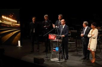 Sébastien Martin Président du Grand Chalon pendant son discours d'inauguration