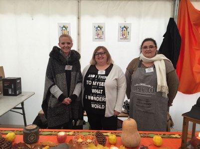 Delphine, Catherine et Isabelle souper soupe