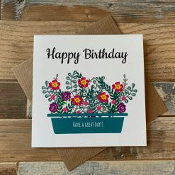 Happy Birthday Flowers In A Planter