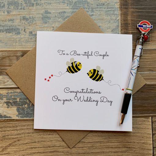 Bee Wedding Card