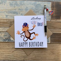 Superhero Monkey Birthday Card