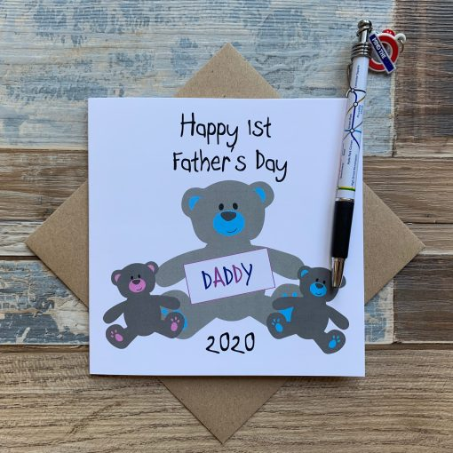 Twins First Fathers Day Card