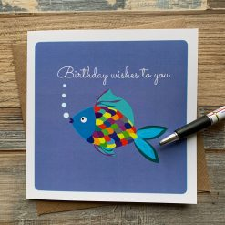 Artistic Fish Birthday Card
