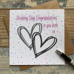 Wedding Day Congratulations Card