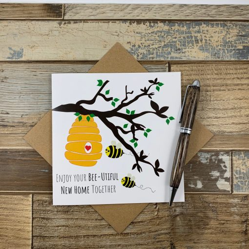 Bee New Home Card
