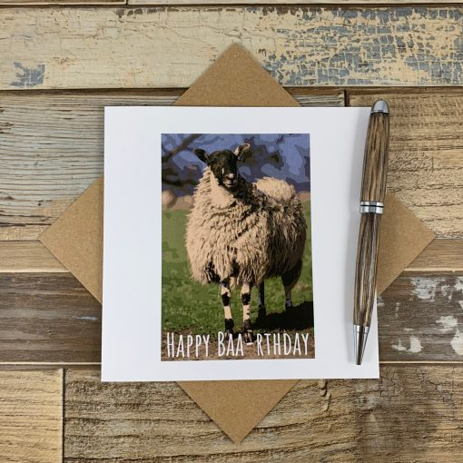 Welsh Sheep Birthday Card