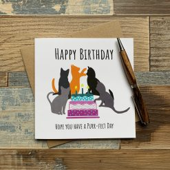 Cat Design Birthday Card
