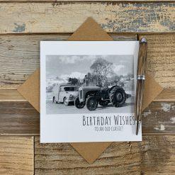 Classic Car & Tractor Birthday Card