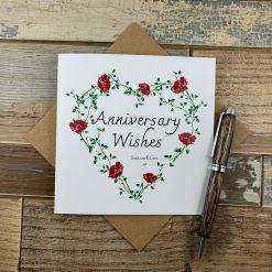 Happy Anniversary Card - Poppies Design