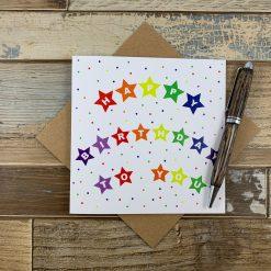 Star Bunting Birthday Card