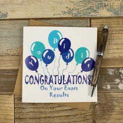 Congratulations Exam Results Card