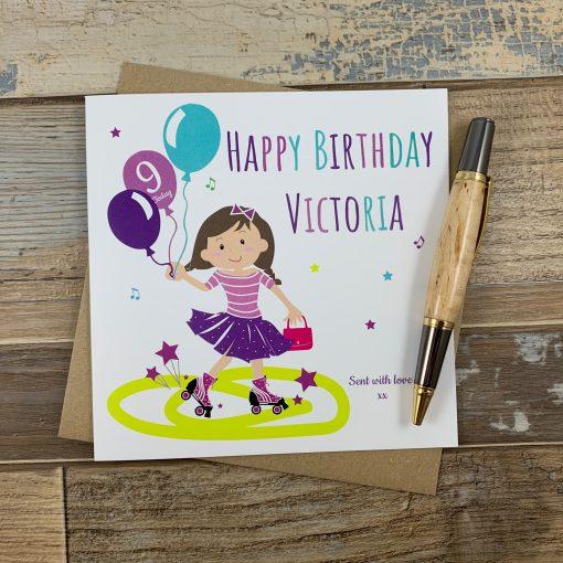 Skater Girl Birthday Card