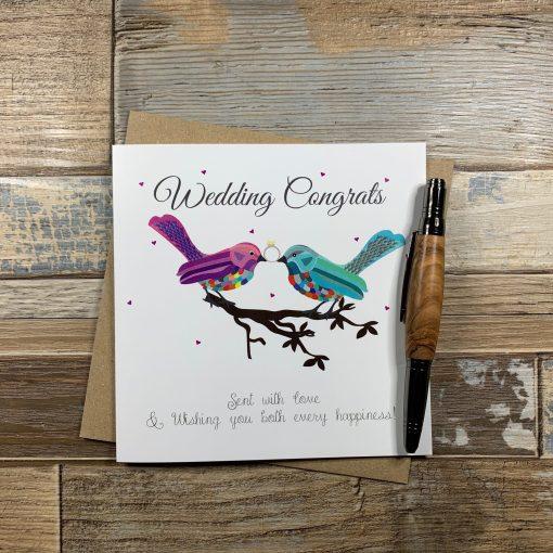 2 Birds on a Branch - Wedding Congratulations Card