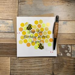Hap-bee Birthday Card uk