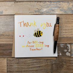 Teacher Thank You Card Bee Theme