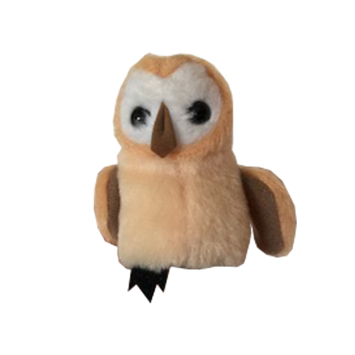 A cream and brown coloured Owl Finger Puppet ideal for use in Kaleidoscope Therapy sessions