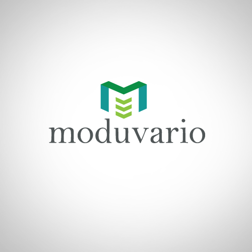Logo design for a modular building system distributor called Moduvario.