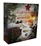 Querfee® - Kaffee Adventskalender mit 24 Türchen - 24 x verschiedener Kaffee für abwechselungsreiche Kaffeemomente - 24 x 15 g Kaffee - 360 g gemahlener Kaffee insgesamt - Röstkaffee und aromatisierter Röstkaffee