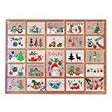 Adventskalender für Kinder und Erwachsene mit Süßigkeiten und Weihnachtsgebäck. Mit perforierten Türchen, die Du als Geschenkanhänger verwenden kannst. 1x435g Inhalt