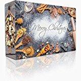 C&T Knusperkalender - Adventskalender - 24 leckere Knabbereien für den Advent mit 24 Mischungen aus Mandeln, Cranberries, Erdnüssen, und anderen Snacks