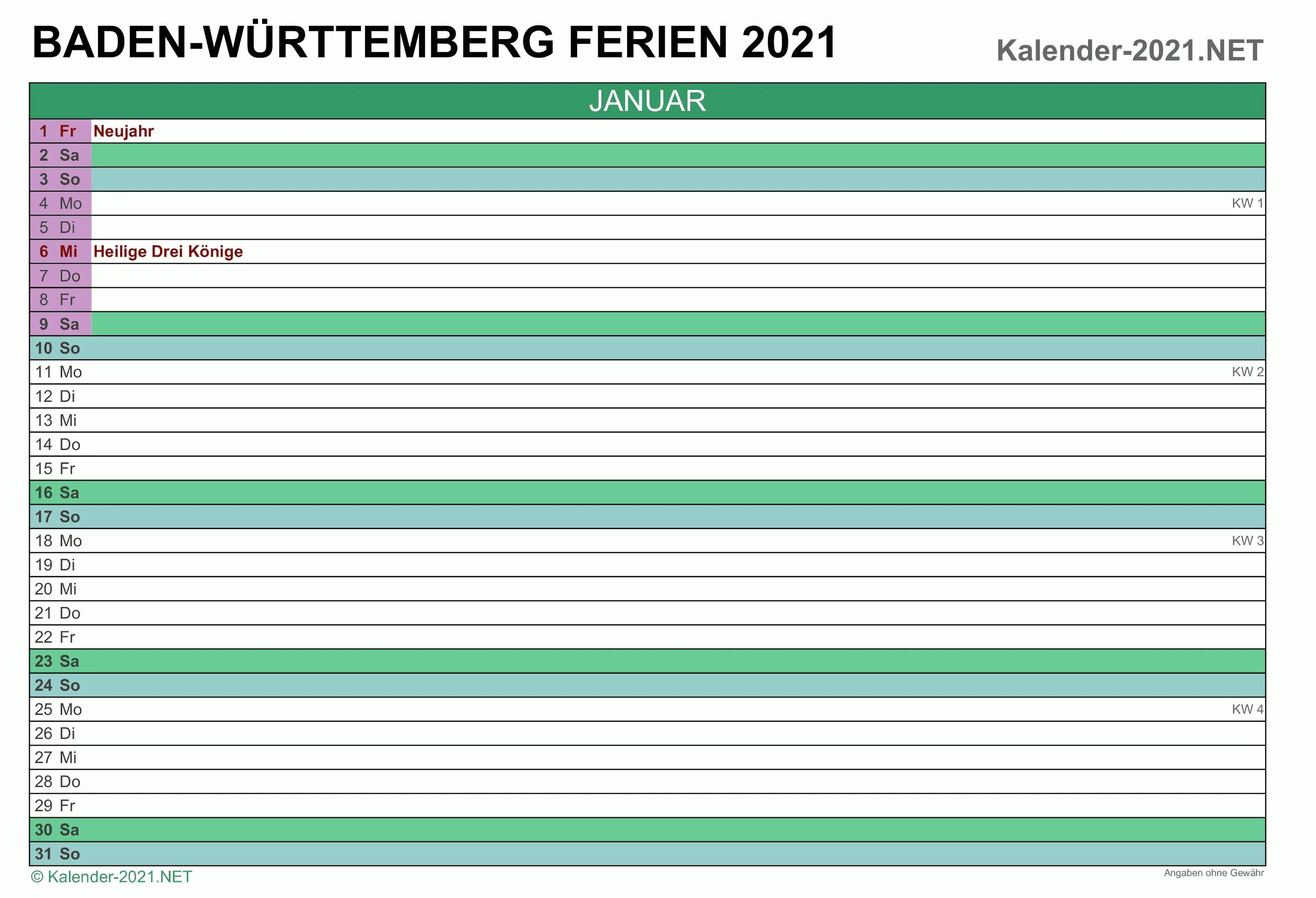 Ferien Baden-Württemberg 2021 - Ferien Baden Wurttemberg ...