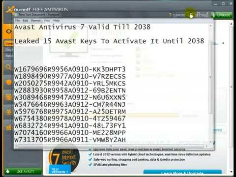 Avast Internet Security Activation Code Till 2038