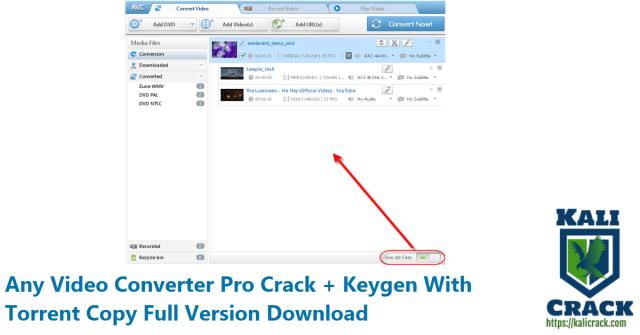 Any Video Converter Pro Crack + Keygen With Torrent Copy Full Version Download