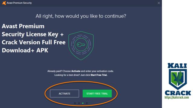 Avast Premium Security License Key + Crack Version Full Free Download+ APK