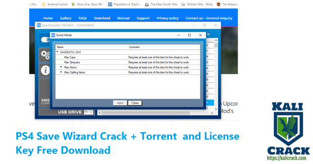 PS4 Save Wizard Crack + Torrent and License Key Free Download
