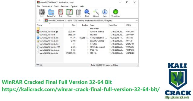 WinRAR Cracked Final Full Version 32-64 Bit