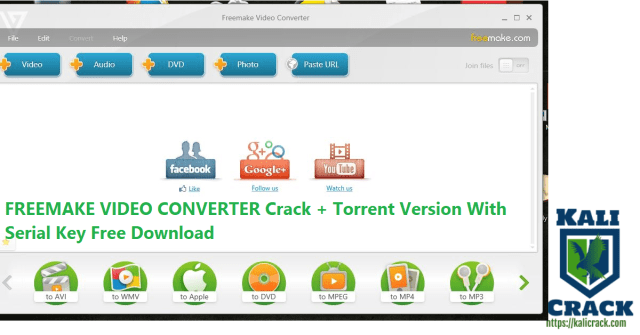 FREEMAKE VIDEO CONVERTER Crack + Torrent Version With Serial Key Free Download