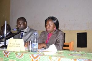 """Pr Yvette Rachel Kalieu Elongo, pendant le colloque de Dschang sur """"l'harmonisation du droit des contrats en Afrique."""""""