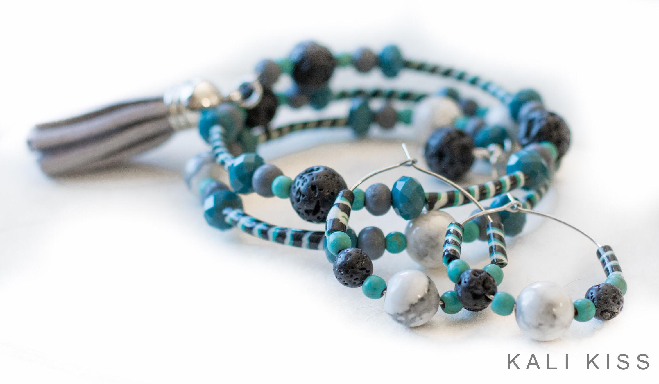SF Inspired Boho Recycled Flip Flop Bracelets