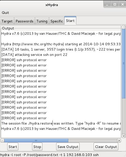 Online Password Bruteforce with Hydra-GTK - Kalilinuxtutorials