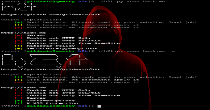 H2T : HTTP Hardening Tool Scans Website & Suggests Security