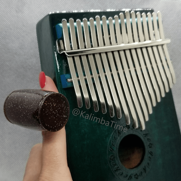 picture of rhythm shaker next to a kalimba