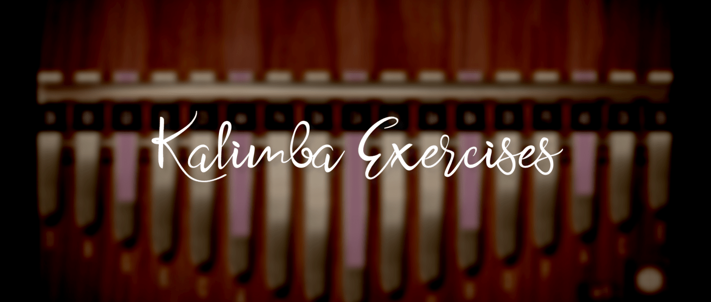 """title images with the text """"Kalimba Exercises"""""""