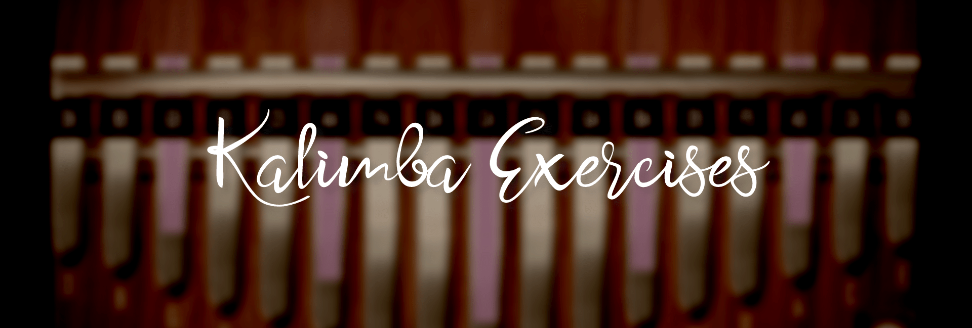 "title images with the text ""Kalimba Exercises"""