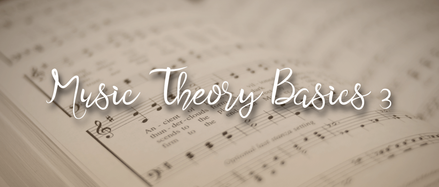 """title image with text """"Music Theory Basics 3"""""""