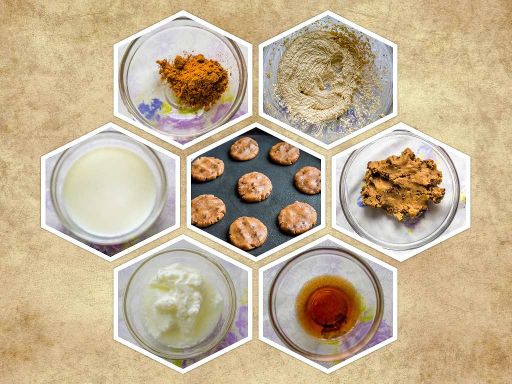 Eggless Whole wheat cookies Ingredients