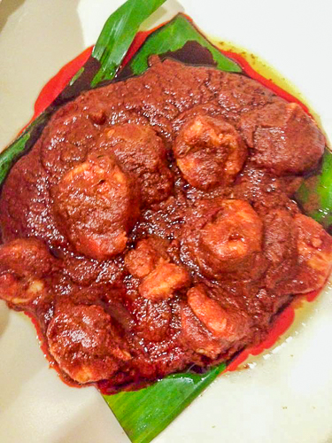 Prawns Ghee Roast at Maharaja hotel