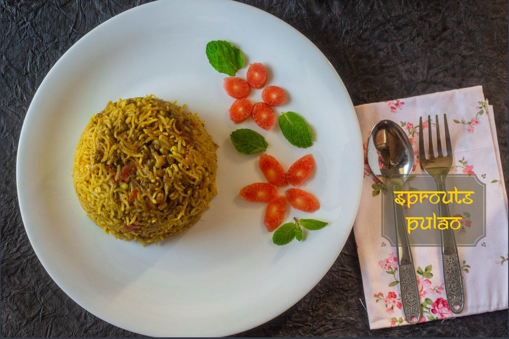 Sprouted Moong Pulao