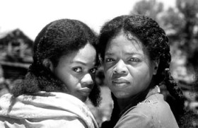 Kimberly Elise and Oprah Winfrey, as Denver and Sethe in Beloved
